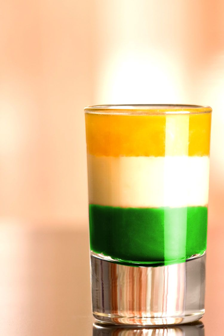 Irish Flag Cocktail | Green Cocktail Recipes For St. Patrick's Day