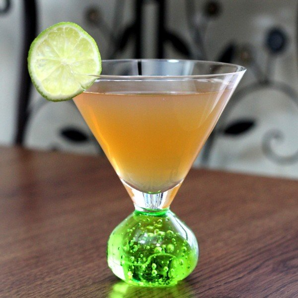 March Rain Cocktail recipe: Tia Maria, Canton Ginger Liqueur, St. Germain, Casa Noble, lime juice
