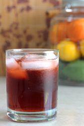 Rum Sangaree drink on table
