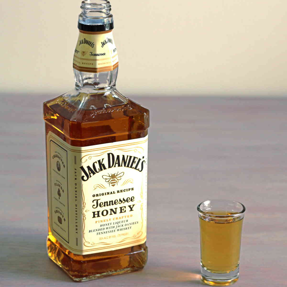It is a graphic of Impeccable Jack Daniels Honey Label