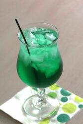 Misty Mint drink served on cocktail napkin