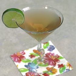 Santa Cruz Daisy cocktail recipe: rum-based with hints of lime and cherry.