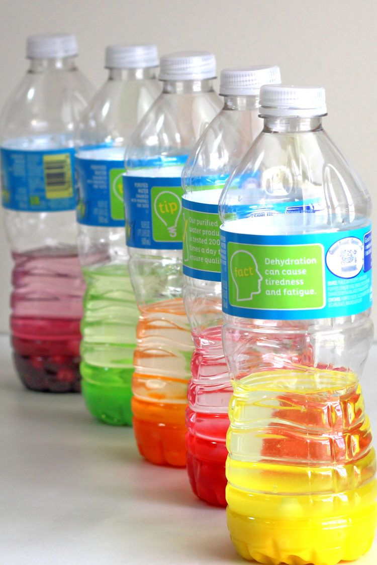 Skittles candies in bottles with vodka