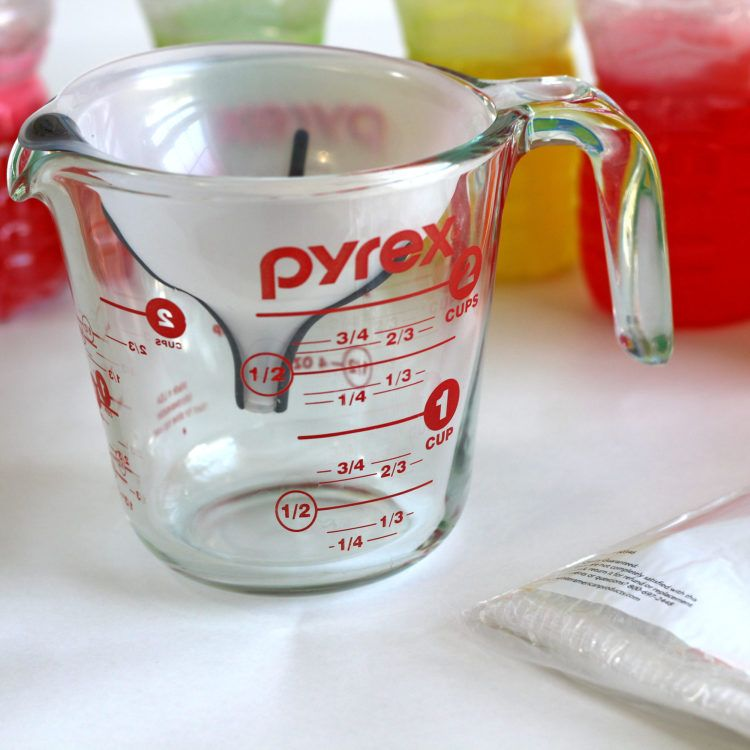 Funnel inside measuring cup