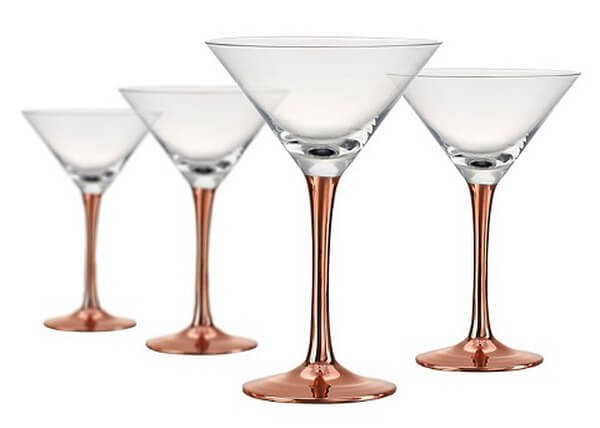 Coppertino Martini Glass set