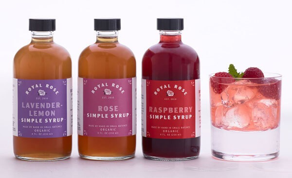 Rose Royal Simple Syrup set