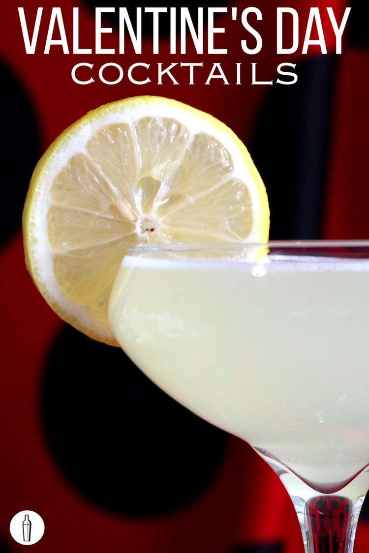 Closeup of Valentine's Day cocktail