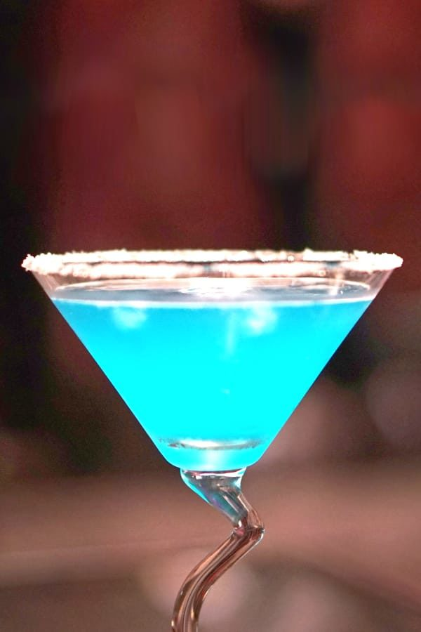 Blue Goose New Years cocktail