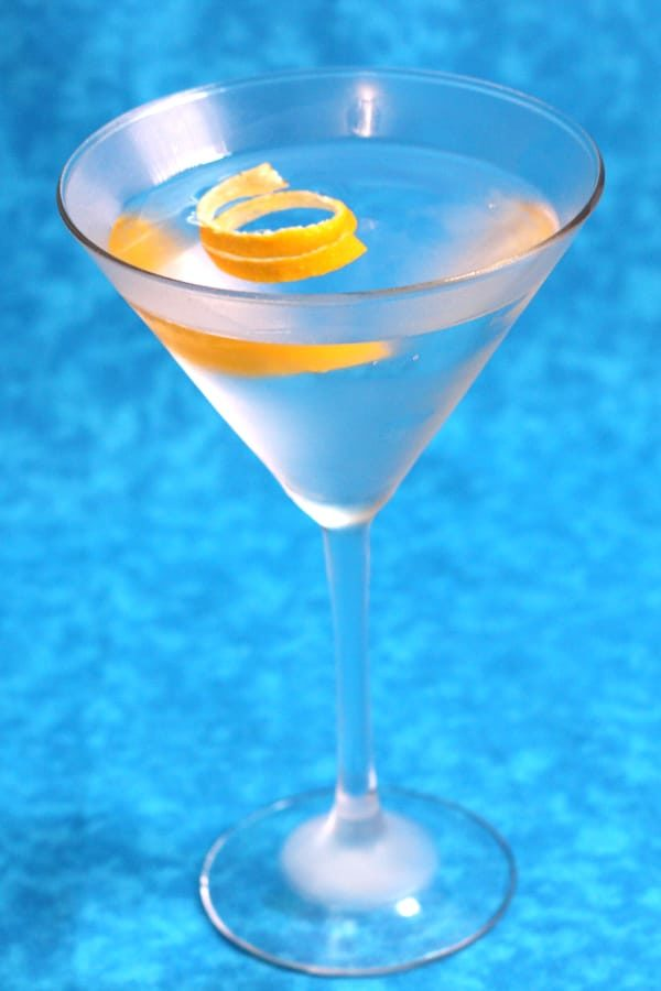 The classic Martini with lemon New Years cocktail