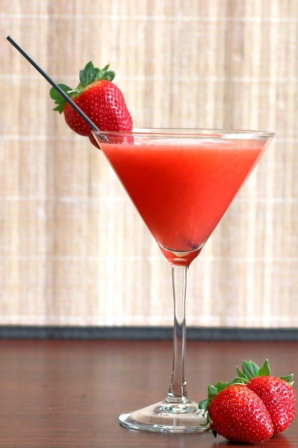 Strawberry Sombrero New Years cocktail
