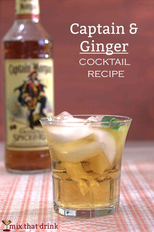 Captain ginger cocktail recipe featuring captain morgan for Mix spiced rum with