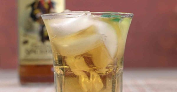 The Captain and Ginger is a refreshing drink recipe that blends Captain Morgan Original Spiced Rum with ginger ale or beer. Plus a dash of lime juice. It's like a Moscow Mule with spiced rum instead of vodka.