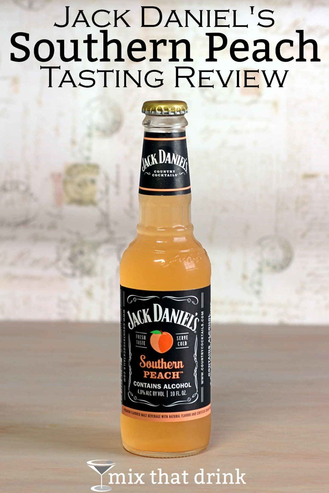 Jack Daniel's Southern Peach from the Country Cocktails line is a premium malt beverage featuring a wonderful peach flavor. It's lightly sweet with a tart edge that makes it surprisingly refreshing.