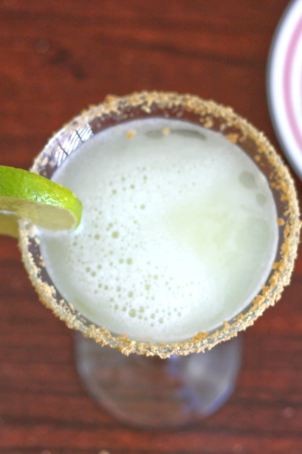 Key Lime Martini as seen from above