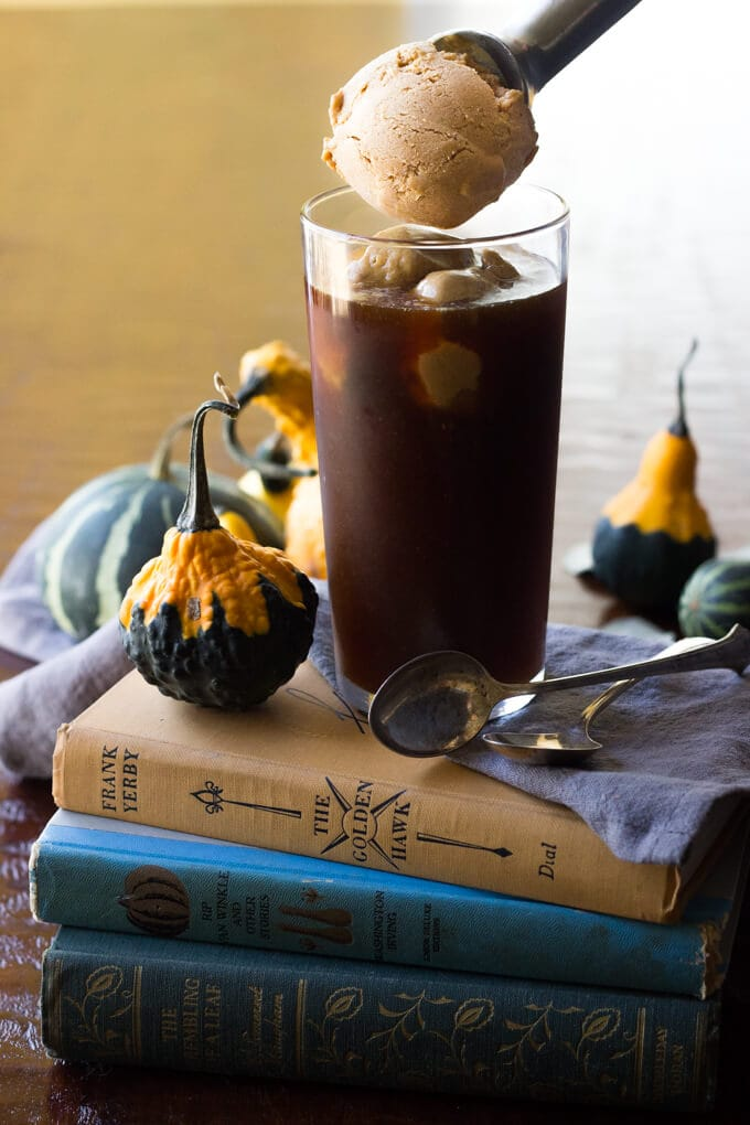 Paleo Pumpkin Pie Ice Cream Coffee Floats
