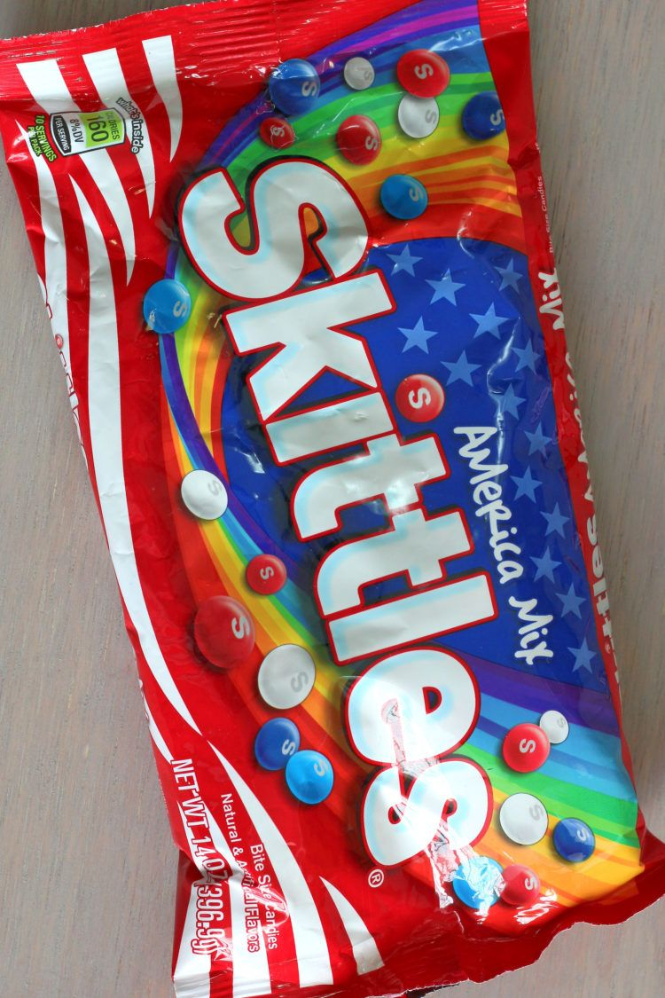 Skittles American Mix bag used in Independence Day Skittles Vodka